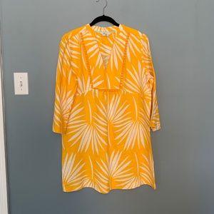 Boden Evangeline Yellow Linen Tunic Dress NWOT
